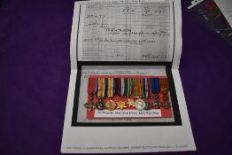 A group of nine WW1 onwards miniature medals to Hon Brigadier John Edwin Dowty RGA/War Office,