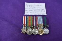 A group of miniature Medals awarded to Major A Thorpe RASC WW2 onwards, France Germany Star, Defence