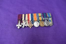 A group of miniature Medals awarded to Colonel Richard Hynman Andrew, nephew of Allenby, OBE,