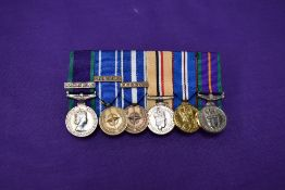 A collection of six Miniature Medals, General Service Medal 1962-2007 Northern Ireland Clasp, Nato