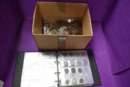 A collection of mainly UK Coins in album and loose,