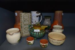 A collection of studio pottery and similar, eleven items in total.