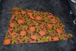 A length of vintage 1960s floral fabric.