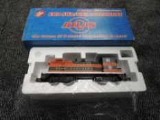 A Atlas (USA) 0 Gauge Three Rail EMD SW8 Great Northern Diesel Locomotive 98, boxed 6104-1