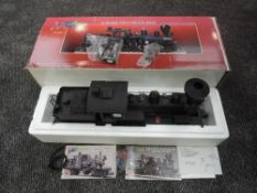 A Bachmann Spectrum G Scale Two Truck Shay 36 Ton Loco & Tender, painted, unlettered,