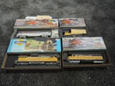 Four Athearn HO Scale Union Pacific and Amtrak Locomotives, all boxed