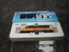 A Broadway Limited Blueline HO scale EMD SD40-2 B&O Locomotive 7600, in original box 5002