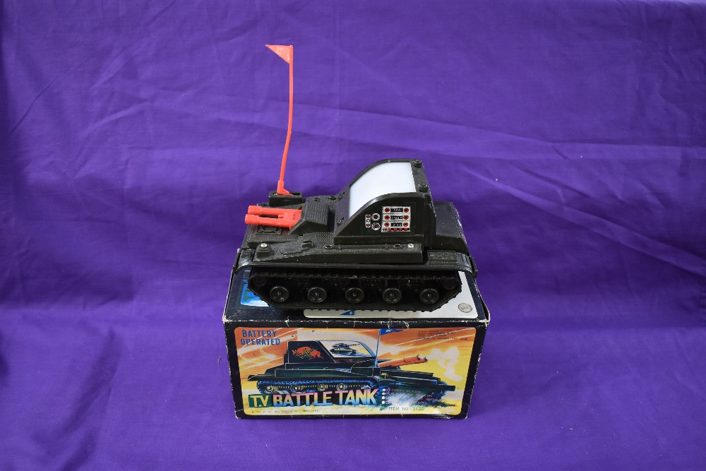 A Chen Jea Toys, made in Taiwan, battery operated and plastic TV Battle Tank, having mystery action, - Image 2 of 2
