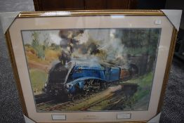 A Framed Print after Terence Cuneo, The Millennium Edition, Mallard, bearing signature to mount