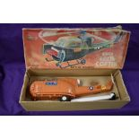 A 1960's SH (Japan) plastic and battery operated Super Brite Copter, in original box with inner card