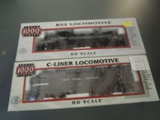 Two Proto 1000 Series HO Scale New York Central RS2 Locomotive & C-Liner Locomotive, both boxed