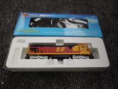 A Broadway Limited Blueline HO scale GE C30-7 ATSF Locomotive 8018, in original box 5042