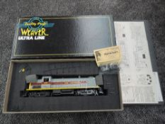 A Weaver (USA) Ultra Line 0 Gauge Two Rail Erie Lackawanna RS 3 Diesel Locomotive 1041, boxed