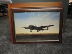 Two Aviation framed prints after Gerald Coulson, Lancaster Lift Off and Avro Lancaster Bomber