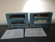 Two Proto 2000 Series HO Scale New York Central GP18 and GP20 Locomotives, both boxed