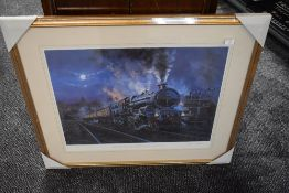 A Framed Print after John Austin, Night Arrival, bearing signature to mount and numbered 22/600