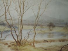 A watercolour, B Eyre Walker, Mill Weir, Low Nibthwaite, signed and dated 1936, 28 x 46cm, framed
