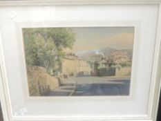 A watercolour, Geoffrey H Pooley, Kirkby Lonsdale, signed, 25 x 36cm, framed and glazed