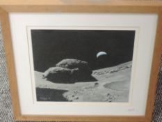 A gouache painting, Matthew Hedges, Boulders on the Moon- day 9, signed and dated (19)96, 26 x 28cm,