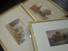 Three watercolours, W H Sugden, inc ruins, signed and dated, 1887, 47 x 64cm, framed and glazed,