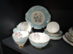 A part tea service by Imperial having blue and floral design 19 pieces approx