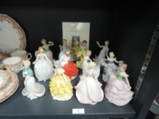 A selection of twelve Franklin porcelain figurines.