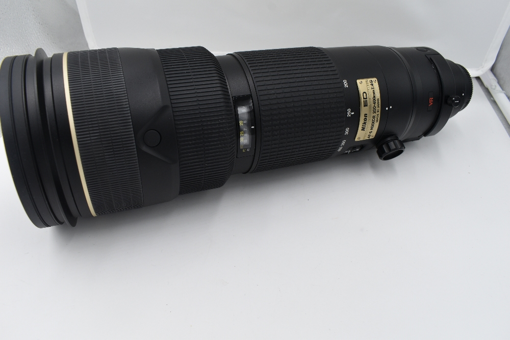 A Nikon camera with lens and equipment in a hard Peli 1600 case. A Nikon D700 body, a Nikon AF-S - Image 2 of 7