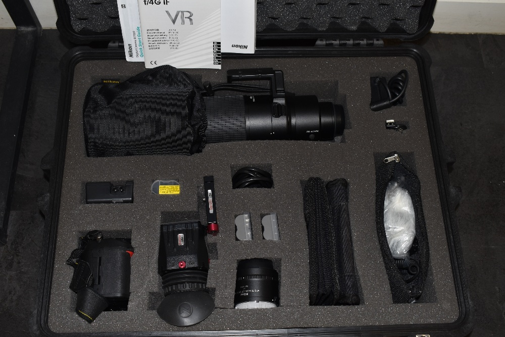 A Nikon camera with lens and equipment in a hard Peli 1600 case. A Nikon D700 body, a Nikon AF-S - Image 7 of 7