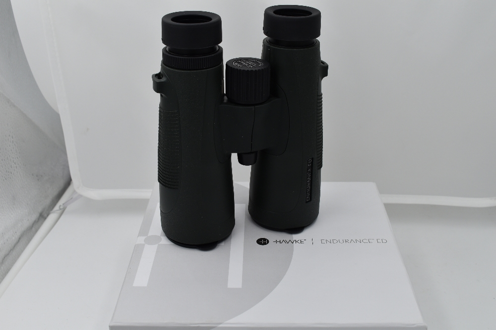 A pair of Hawke Endurance ED 12x50 binoculars in case and with original box - Image 2 of 2