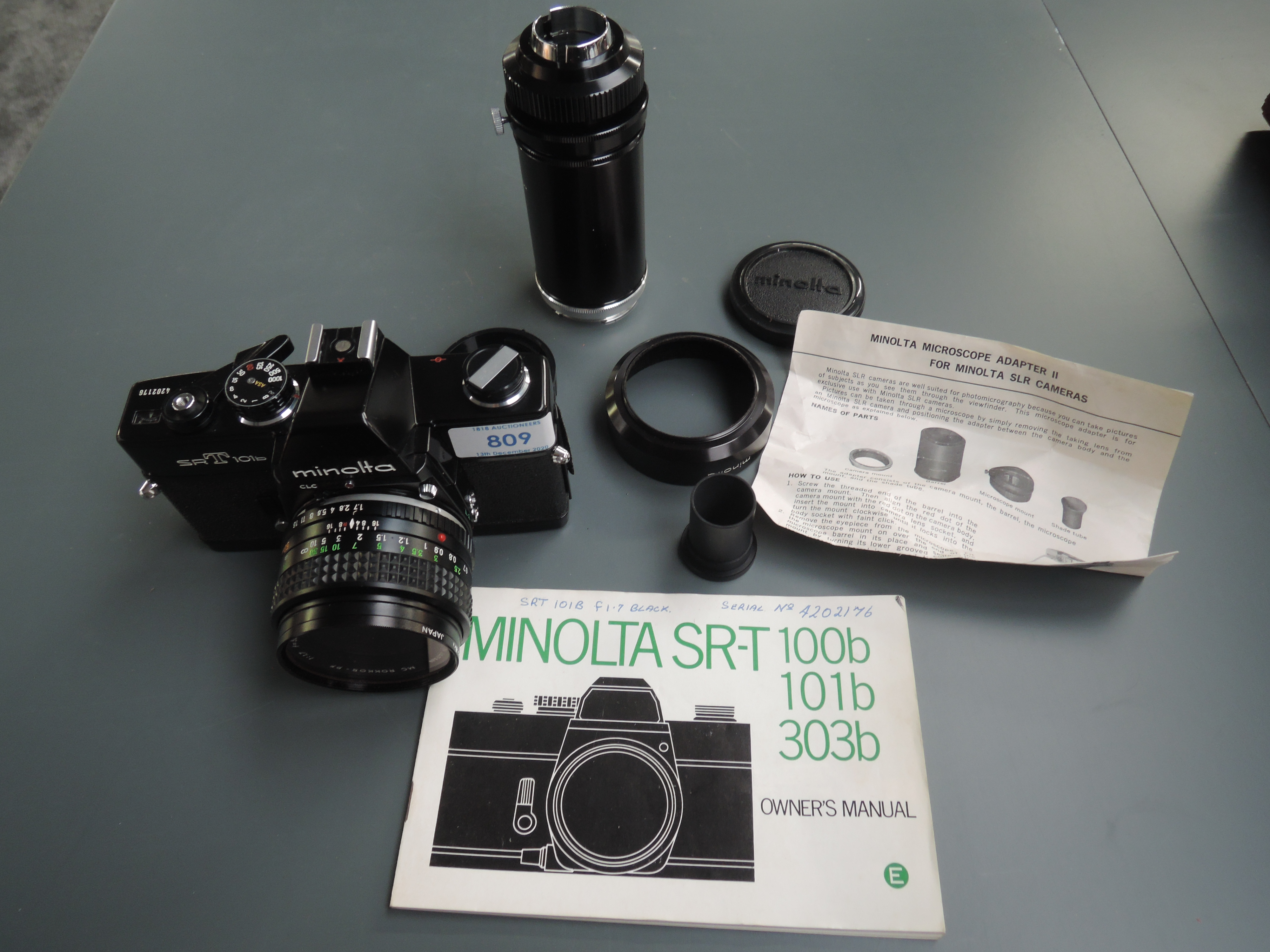 A Minolta SR T 101b camera with users manual - Image 3 of 3
