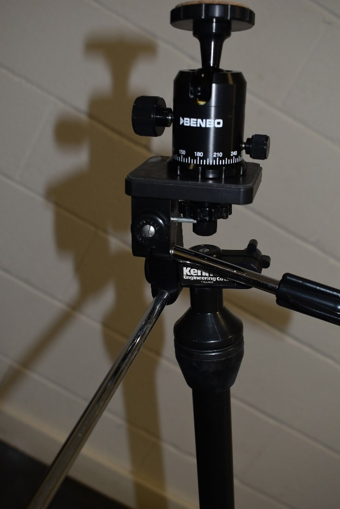 A Benbo 1 tripod including a Benbo Professional Ball & Socket head, in a soft carry bag