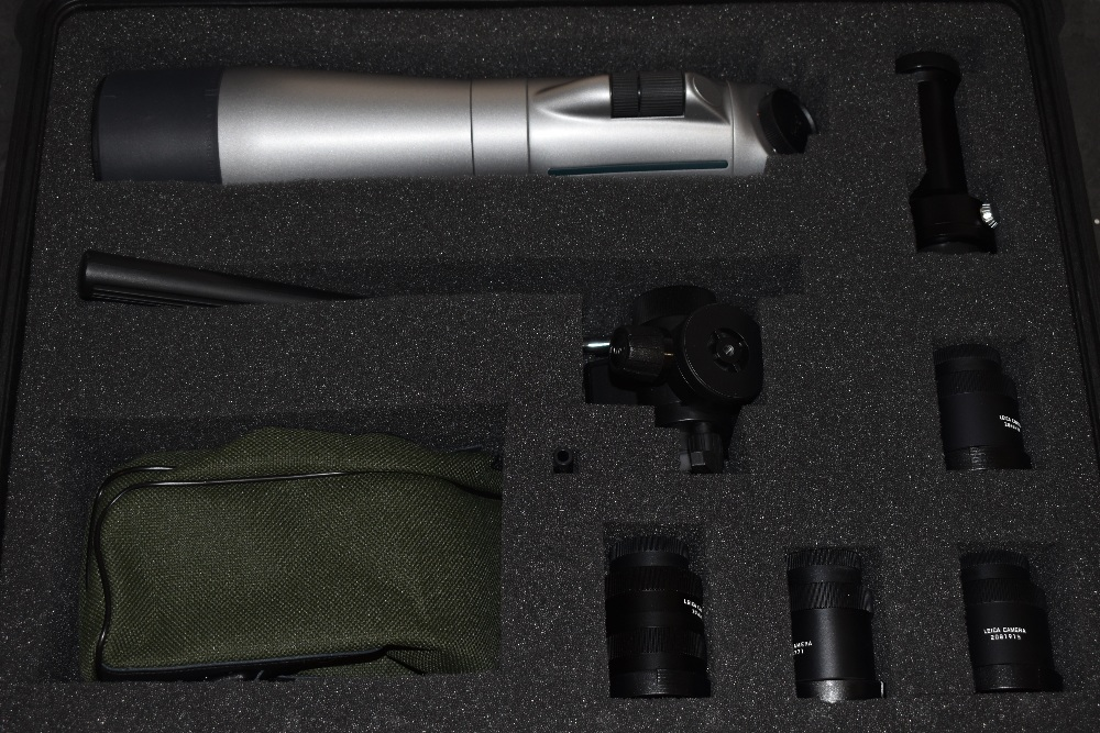A Leica Spotting Scope and eyepieces in a hard Peli 1600 case. A Leica APO-Televid 77 spotting scope - Image 3 of 3