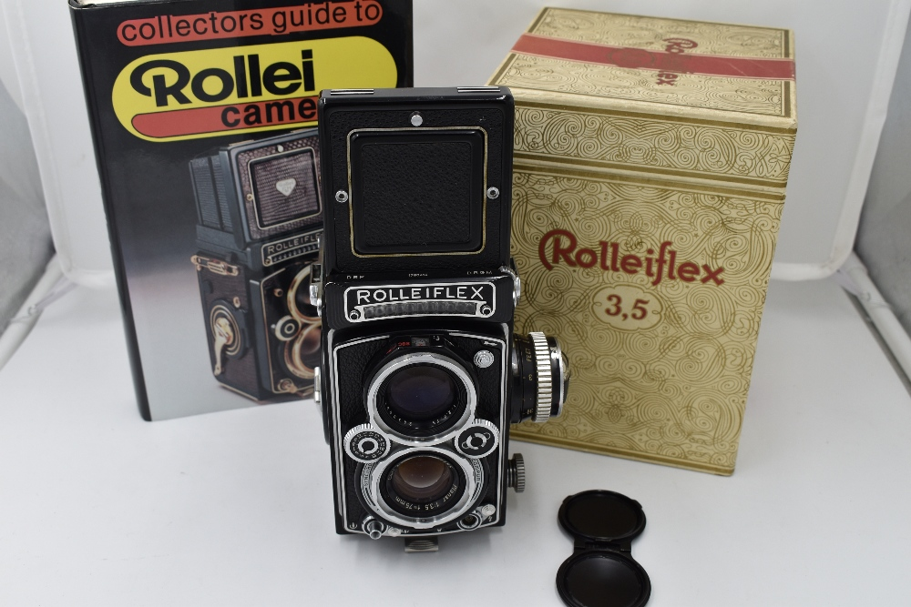 A Franke & Heidecke Rolleiflex 3,5E Type 1 reflex camera. No1780414 with Carl Zeiss Planer 1:3,5