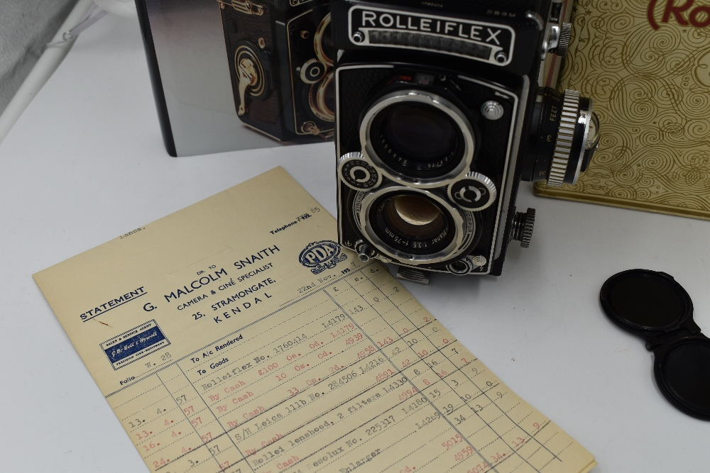 A Franke & Heidecke Rolleiflex 3,5E Type 1 reflex camera. No1780414 with Carl Zeiss Planer 1:3,5 - Image 6 of 6