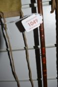 A vintage two piece 9st 6inch cane fly rod in Hardy sleeve,unmarked.