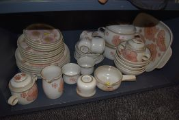 An extensive collection of vintage Denby including plates, tureens, mugs, cups and saucers and