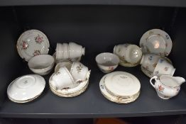 A mixed selection of china including Royal Standard,Empire Porcelain and Royal Vale, includes cups