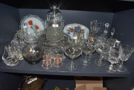 A large collection of vintage glass including Babysham glasses, fruit bowl, dishes and much more.