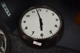 A Gent of Leicester Mid century bakelite clock.