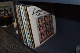 A mixed lot of LP records.