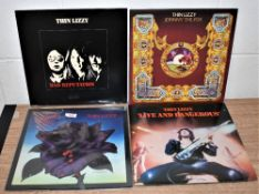 A lot of four Thin Lizzy albums
