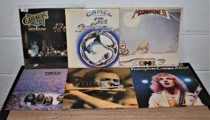 A lot of Camel , Caravan and Peter Frampton records - progressive rock interest