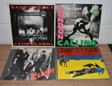 A lot of four original UK Clash pressings - Punk interest