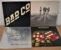 A lot of four albums by Bad Company