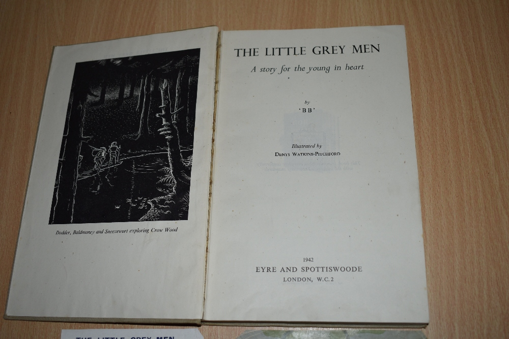 Children's. 'BB' [Denys Watkins-Pitchford]. The Little Grey Men. London: Eyre and Spottiswoode. - Image 4 of 4
