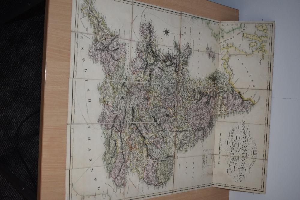 Folding Map. Oliver & Boyd's New Travelling Map of England and Wales. No date, circa 1820's.