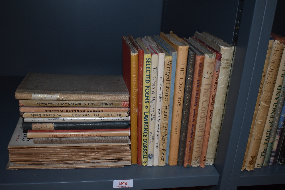 Poetry. A 20th century miscellany. Majority in dust wrappers, first editions and early
