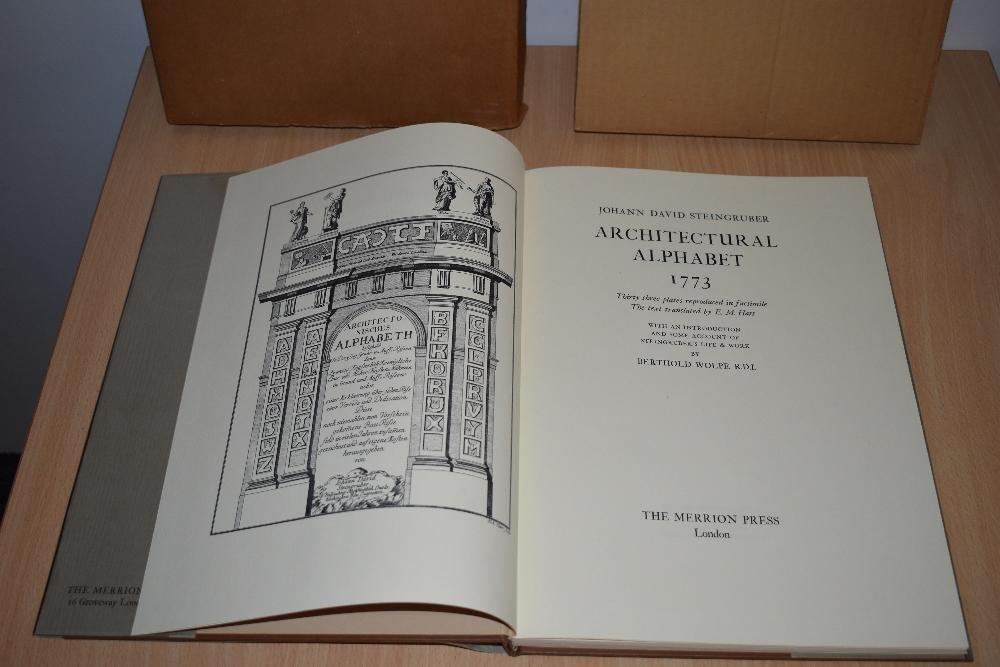 Architecture. Wolpe, Berthold - Johann David Steingruber: Architectural Alphabet 1773. London: - Image 2 of 2