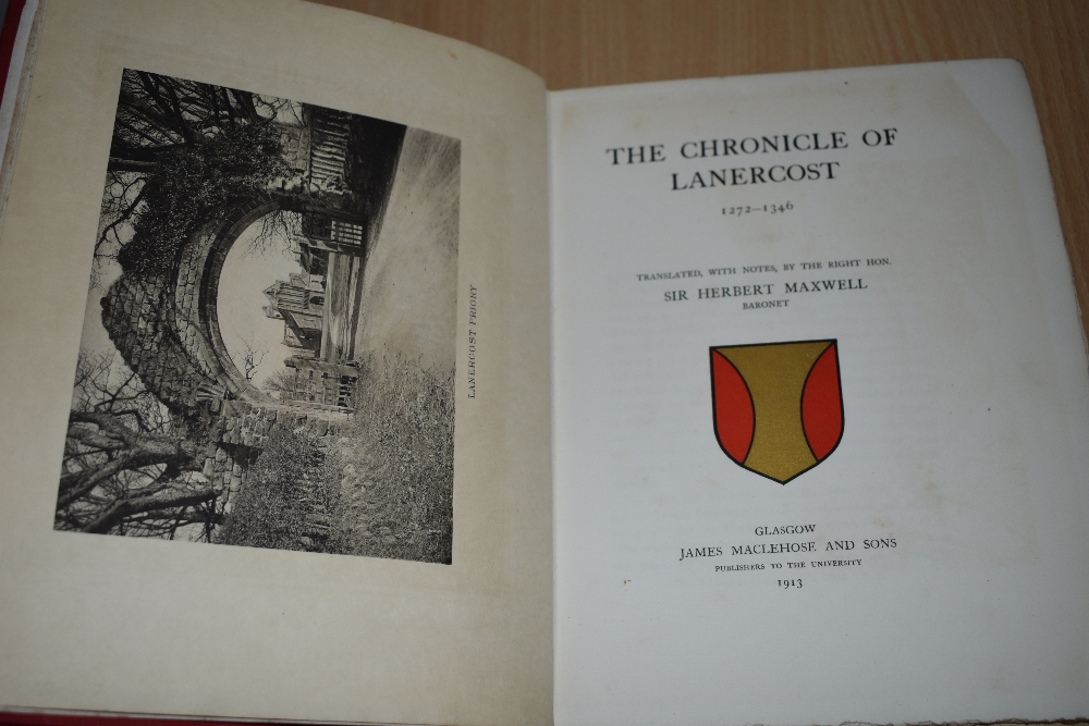 History. Maxwell, Sir Herbert - The Chronicle of Lanercost 1272-1346. Glasgow: James Maclehose and - Image 2 of 2
