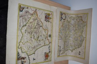 Maps. Antiquarian. Northern Counties. Titled - Provincia Eboracensis Yorkeshire. Ioan Ianssonium.